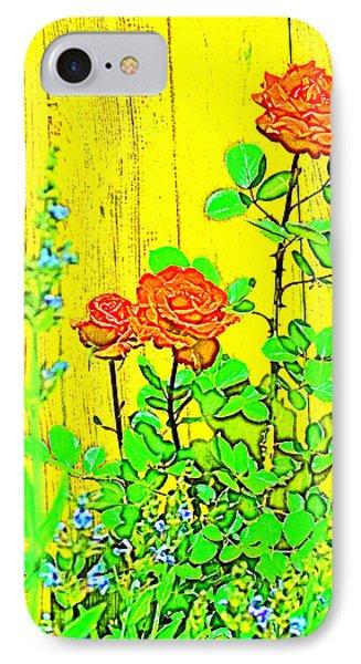 Rose 9 IPhone Case by Pamela Cooper
