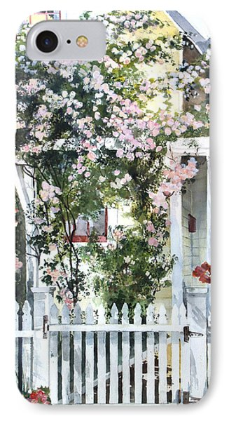 IPhone Case featuring the painting Rose Arbor by Susan Crossman Buscho