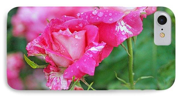 Rose Bonbons Phone Case by Rona Black