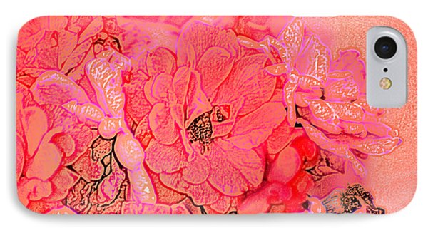 IPhone Case featuring the digital art Rose Bouquet by Kathleen Stephens