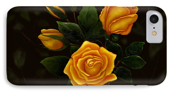 IPhone Case featuring the painting Rose Buddies by Sena Wilson