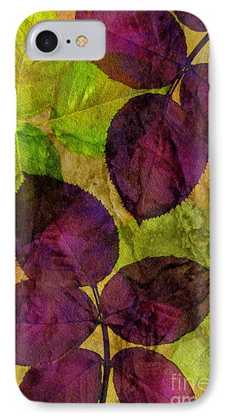 Rose Clippings Mural Wall IPhone Case by Claudia Ellis