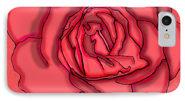 Rose Drawing IPhone Case by Christine Perry