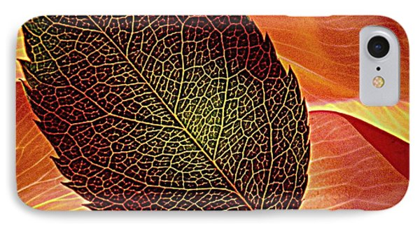 Rose Foliage On Rose Petals Phone Case by Chris Berry