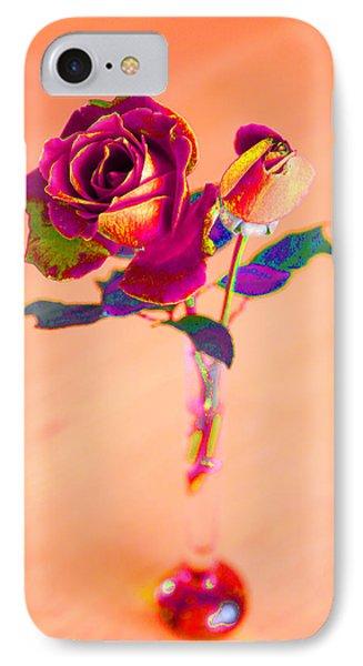 Rose For Love - Metaphysical Energy Art Print Phone Case by Alex Khomoutov