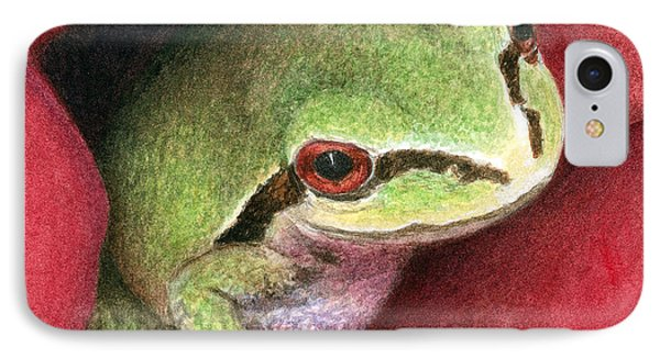 IPhone Case featuring the painting Rose Frog by Pat Erickson