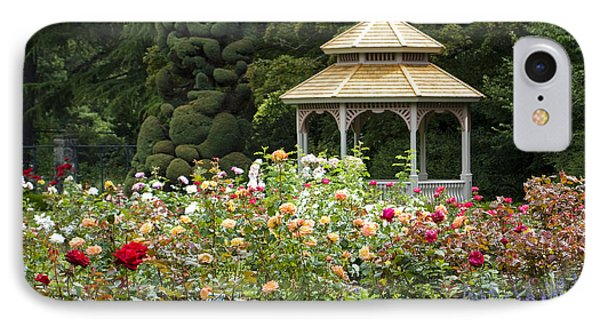 IPhone Case featuring the photograph Rose Garden Gazebo by Sonya Lang
