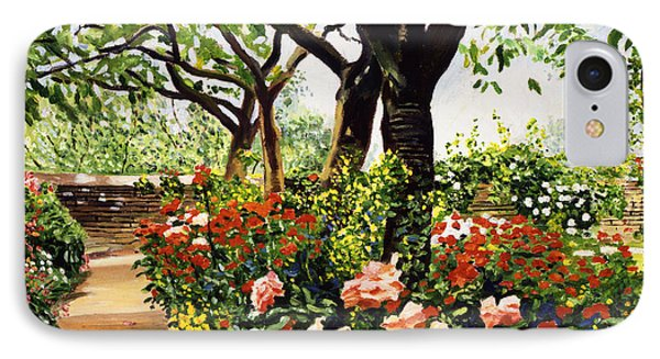 Rose Garden Impressions IPhone Case by David Lloyd Glover