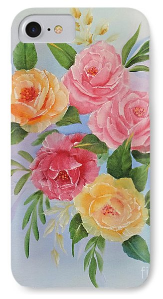 IPhone Case featuring the painting Rose Gathering by Jimmie Bartlett