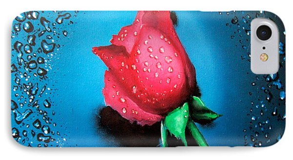 Rose IPhone Case by Geni Gorani