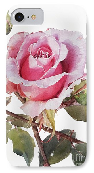 Pink Rose Grace IPhone Case by Greta Corens