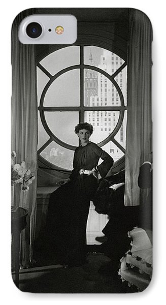 Rose Hobart Standing By A Window IPhone Case by Edward Steichen