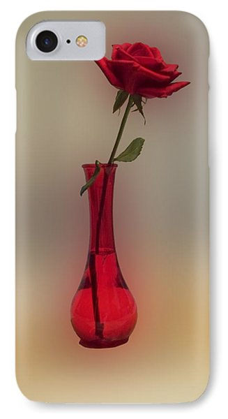 Rose In A Vase Phone Case by Thomas Woolworth