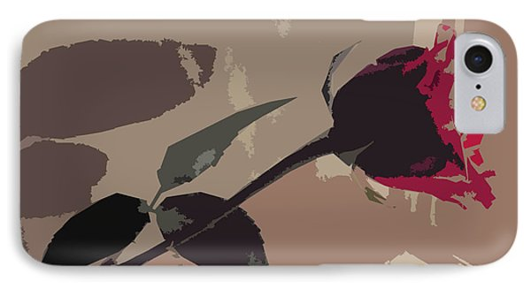 Rose In Abstract Digital Painting Phone Case by Minding My  Visions by Adri and Ray