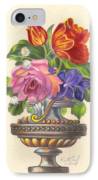 Rose In Antique Vase IPhone Case