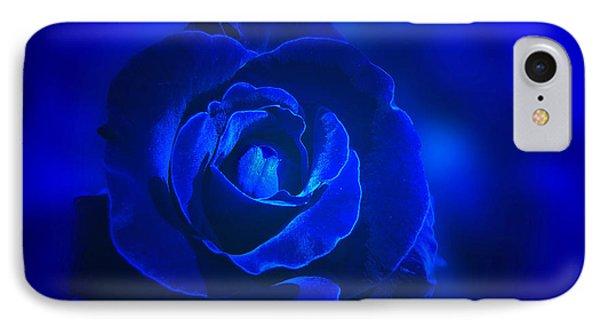 Rose In Blue Phone Case by Sandy Keeton
