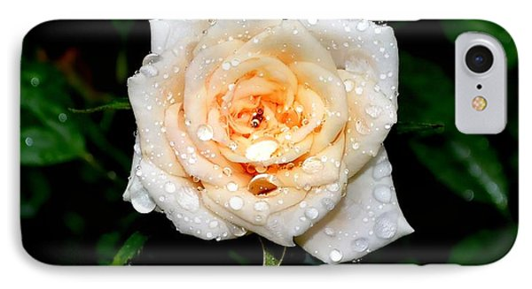 Rose In The Rain IPhone Case by Deena Stoddard