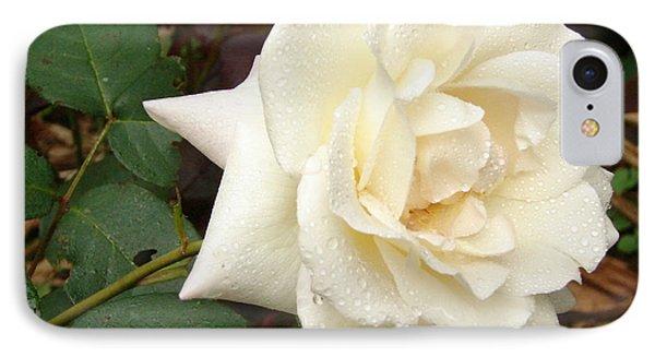 Rose In The Rain IPhone Case