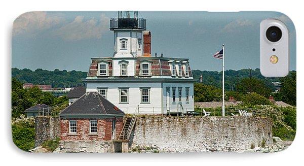 Rose Island Lighthouse Phone Case by Nancy De Flon