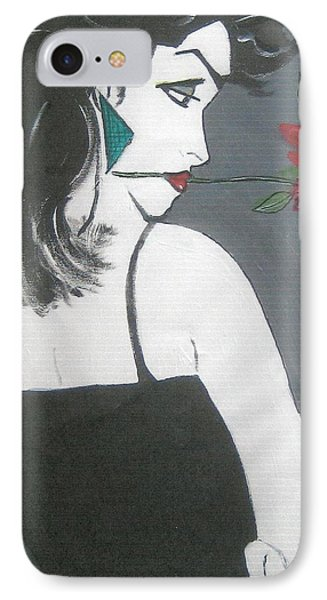 IPhone Case featuring the painting Rose Lady by Nora Shepley