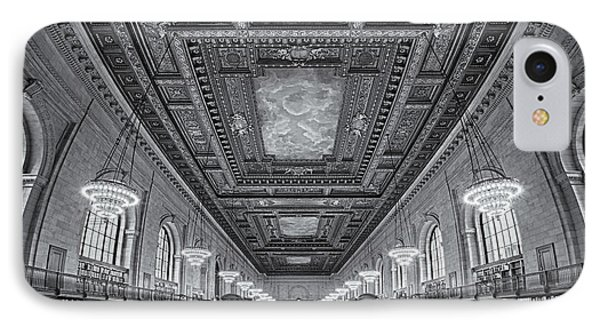 Rose Main Reading Room At The Nypl Bw IPhone Case