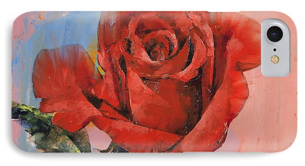 Rose Painting IPhone 7 Case by Michael Creese