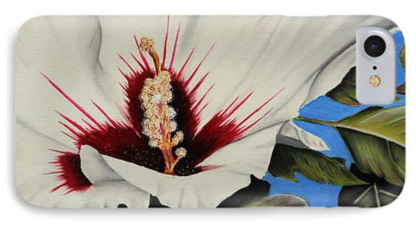 Rose Of Sharon Phone Case by Karen Beasley