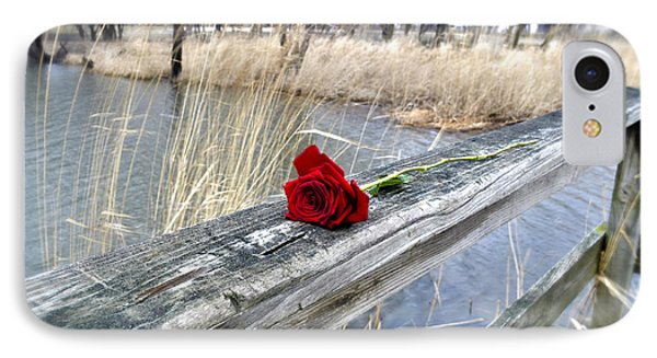 IPhone Case featuring the photograph Rose On A Bridge by Verana Stark