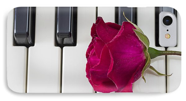Rose Over Piano Keys IPhone Case