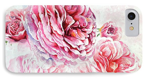 IPhone Case featuring the painting Rose Reflection 1 by Sandra Phryce-Jones