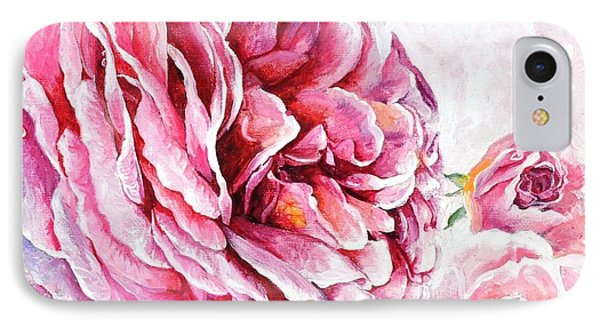 IPhone Case featuring the painting Rose Reflection 2 by Sandra Phryce-Jones