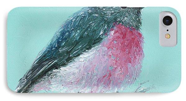 Rose Robin IPhone Case by Jan Matson