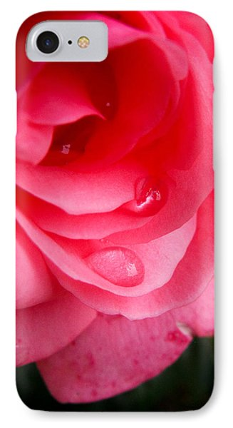 IPhone Case featuring the photograph Rose Teardrop by Dawn Romine