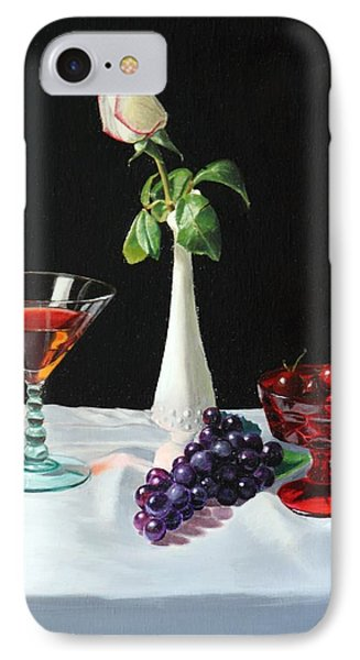 IPhone Case featuring the painting Rose Wine And Fruit by Glenn Beasley