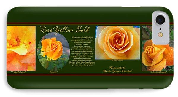 Rose Yellow Gold Plus IPhone Case by Brooks Garten Hauschild