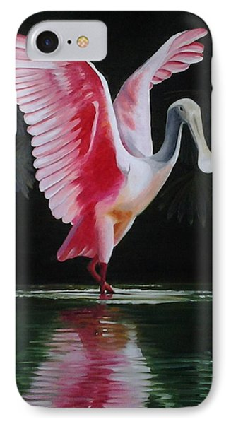Roseate Spoonbill II IPhone Case