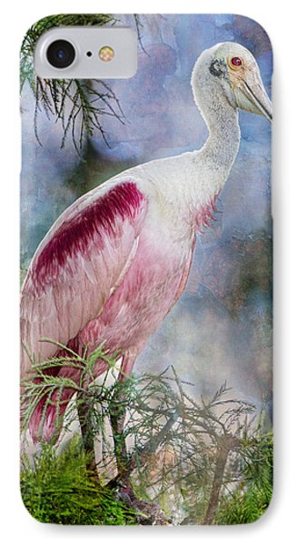 Roseate Spoonbill In Evangeline Parish IPhone Case
