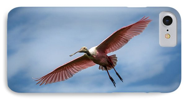 Roseate Spoonbill In Flight Phone Case by Gregory Daley  PPSA