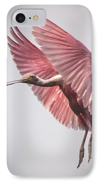 Roseate Spoonbill Landing Phone Case by Gregory Daley  PPSA