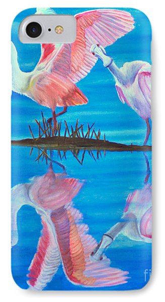 Roseate Spoonbill Pair IPhone Case by Jane Axman