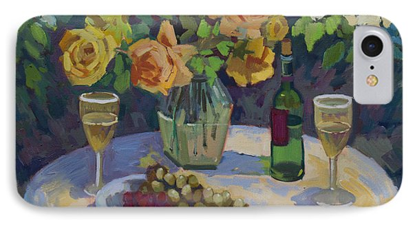 Roses And Chardonnay IPhone Case by Diane McClary
