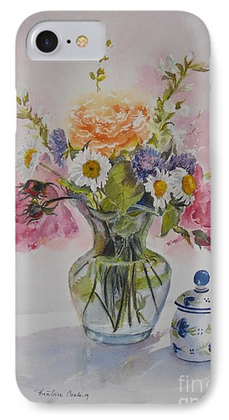 IPhone Case featuring the painting Roses And Daisies by Beatrice Cloake