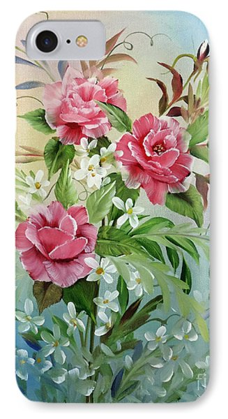 IPhone Case featuring the painting Roses And Daisies by Jimmie Bartlett