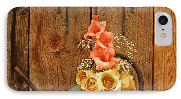 IPhone Case featuring the photograph Roses And Gladiolus  by Marjorie Imbeau