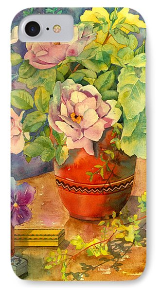 Roses And Pansies Phone Case by Julia Rowntree