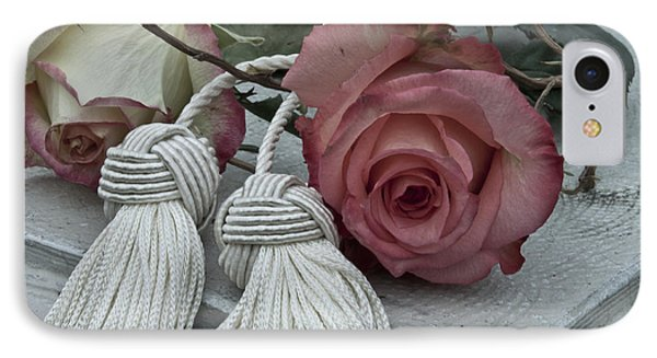 IPhone Case featuring the photograph Roses And Tassels by Sandra Foster