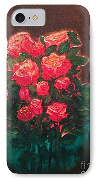 IPhone Case featuring the painting Roses by Brindha Naveen