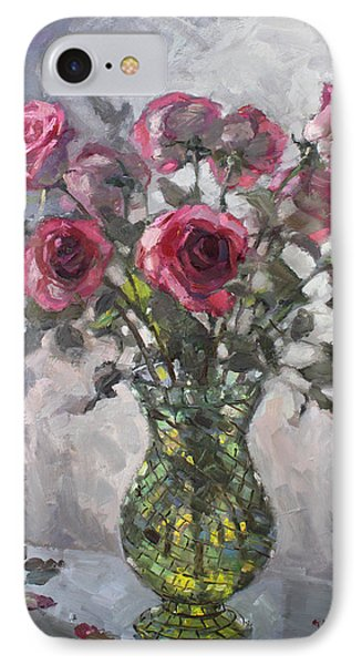 Roses For Viola 2 IPhone Case by Ylli Haruni