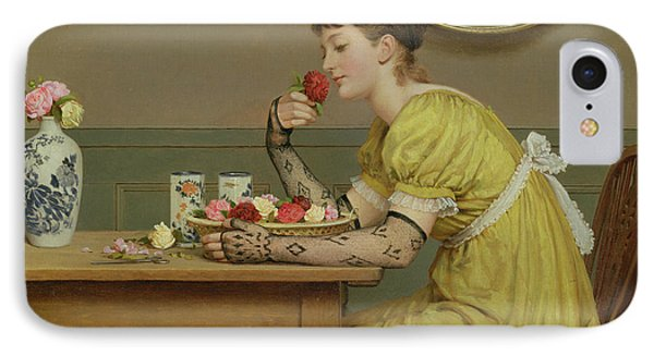 Roses IPhone Case by George Dunlop Leslie