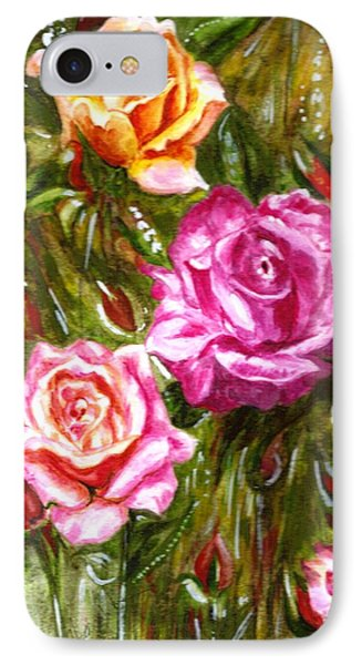 IPhone Case featuring the painting Roses by Harsh Malik